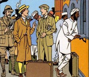 Guichet de gare Victoria à Bombay
