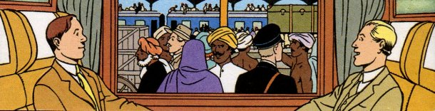 Blake & Mortimer dans le train