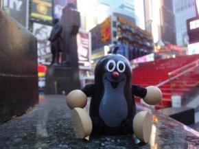 Taupek à Time Square