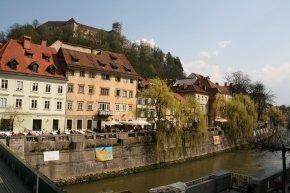 Rivière Ljubljanica à Ljubljana