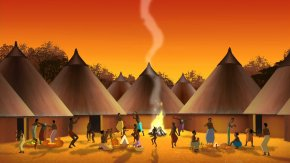 village-africain-traditionnel-dessin