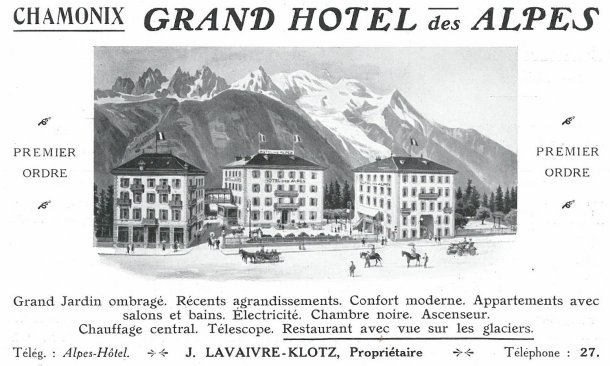 Grand Hôtel des Alpes, Chamonix