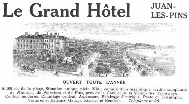 Grand Hôtel, Juan les Pins